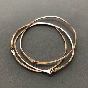Pebble bangles set of 3 by Red Door Metalworks