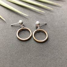 Load image into Gallery viewer, Mini Hoop Mixed Metal Earrings - E38