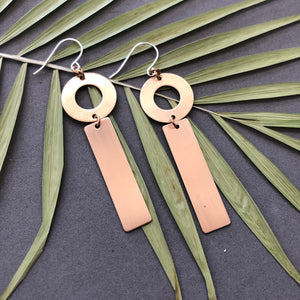 Circle Bar Earrings 1 - E34