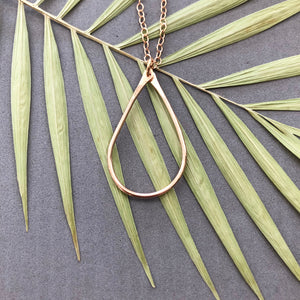 Teardrop - bronze wire necklace - N12