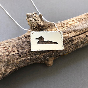 Loon - sterling silver loon necklace