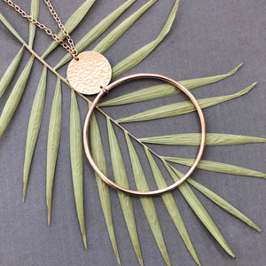 Hoop and disc necklace - N27