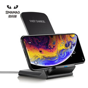 10W Wireless Charger, Quick Charging Dock For Mobile Phone
