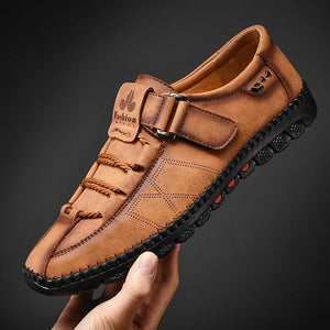 Men's Casual Loafers Split Leather Shoes