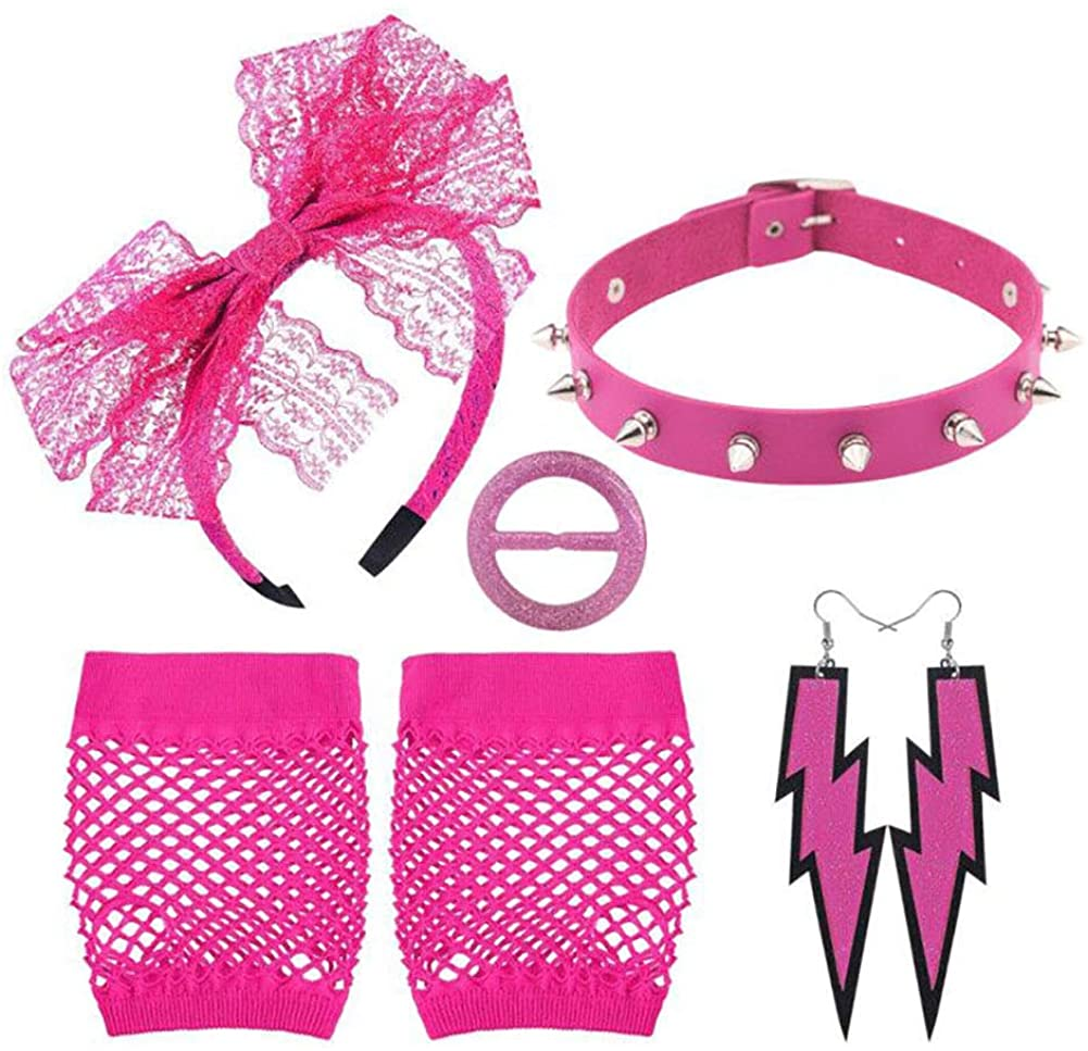 Accessories Set - Black/Pink