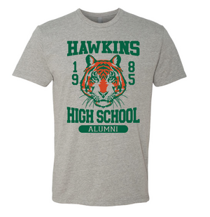 Open image in slideshow, Hawkins High 1985 Alumni T-Shirt