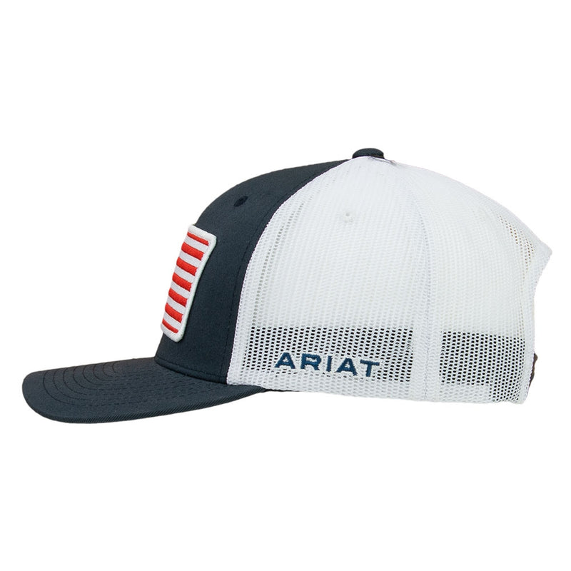 Ariat USA Flag Patch Ball Cap - Snap Back - 1517603
