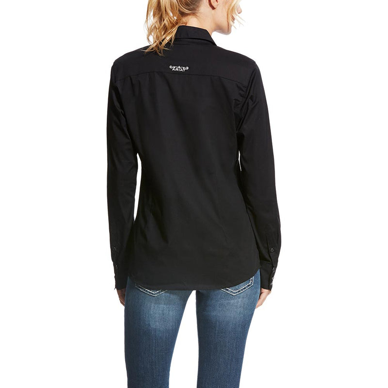Ariat Women's Black Kirby Fitted Stretch Longsleeve Shirt - 10022056