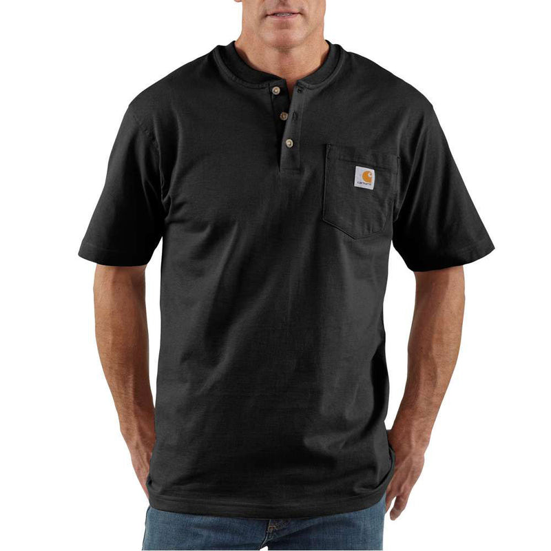 Carhartt Men's Black Cotton T-Shirt - K84BLK