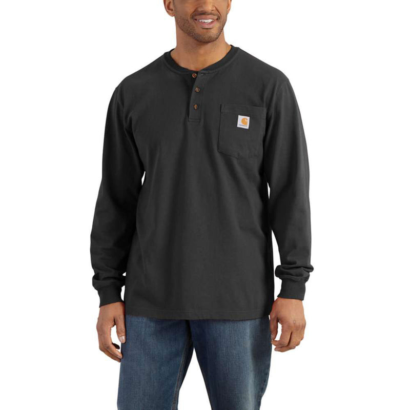 Carhartt Men's Black Long-Sleeve T-Shirt - K128BLK
