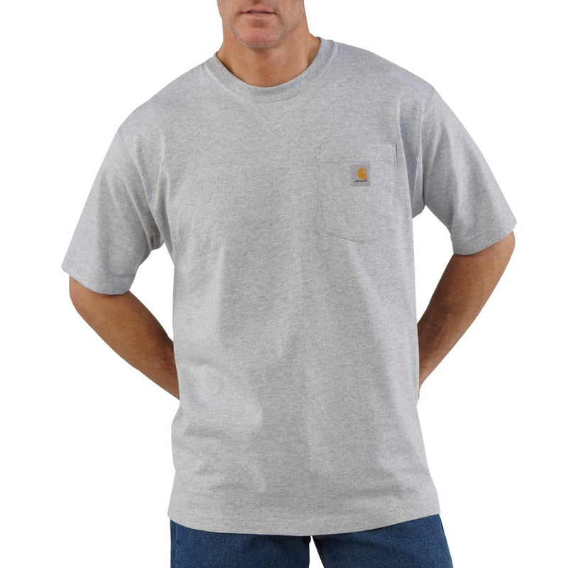 Carhartt Men's Workwear Pocket T-Shirt - Heather Grey - K87HGY