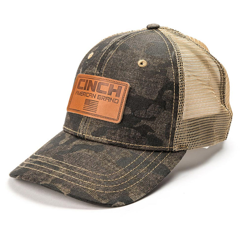 Cinch Embroidered Logo Camo Print Mesh Cap - MCC0038019-MUL