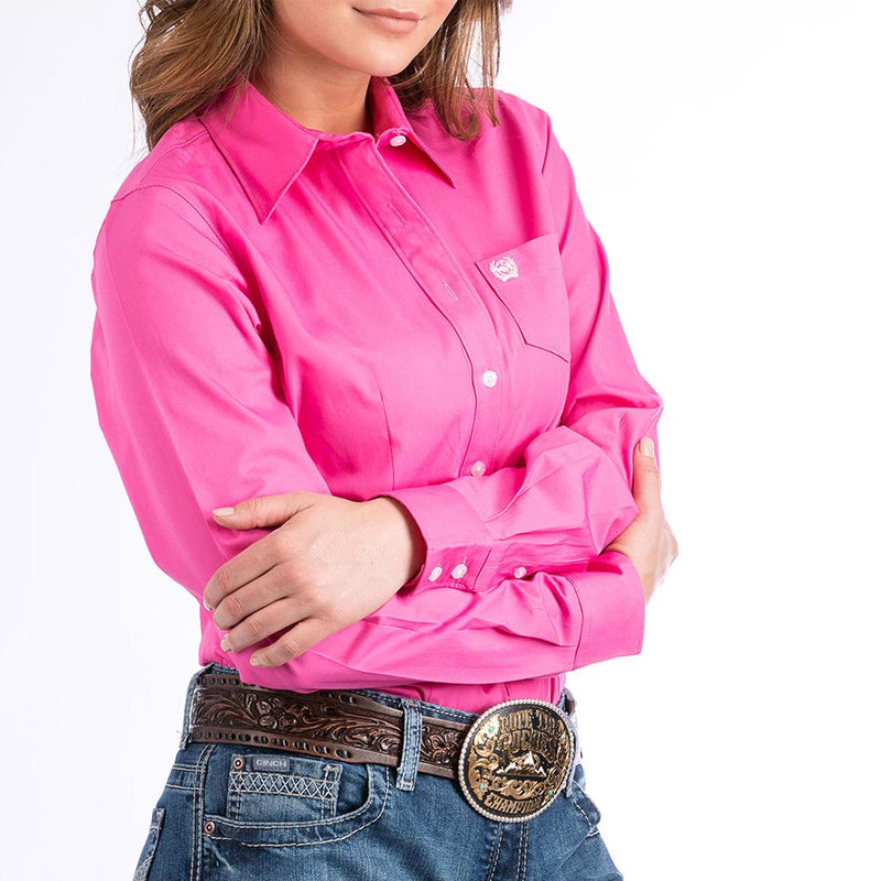 Cinch Women's Pink L/S Western Shirt - MSW9164033-PNK