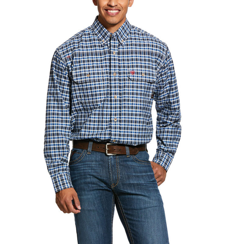 Ariat® Mens FR Plaid Featherlight Work Shirt - 10031016