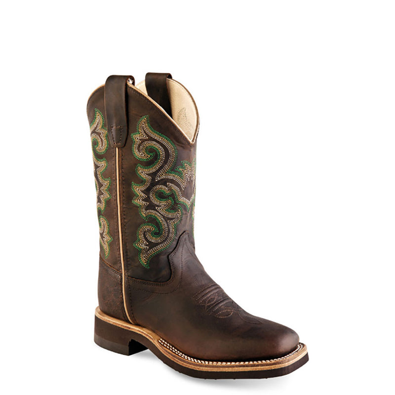 Old West Kids Boots - BSC1822G-BROWN