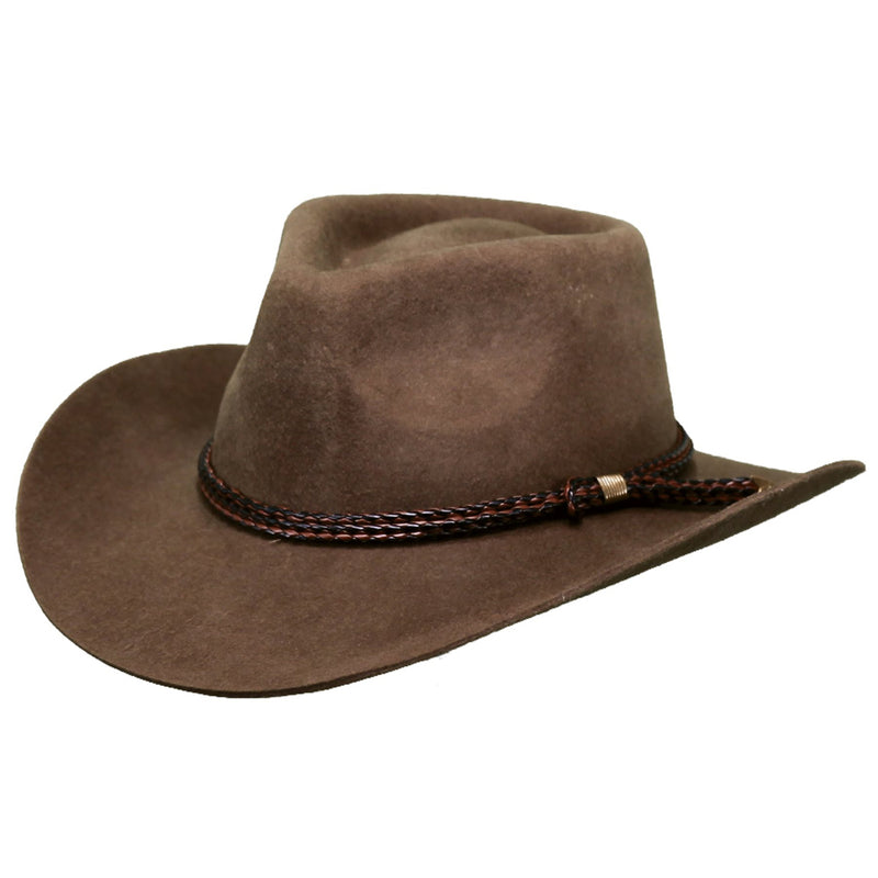 Outback Forbes Australian Wool Hat - Brown - 1153-BRN