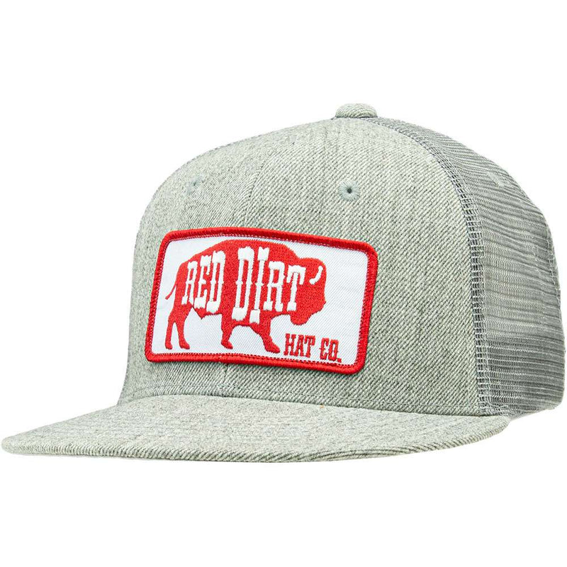 Red Dirt Red/Grey Logo Cap - RDHC58