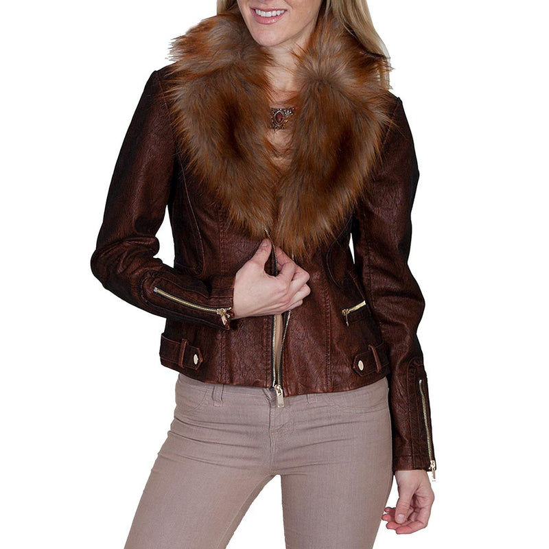 Scully Women's Faux Leather & Fur Jacket - 8052