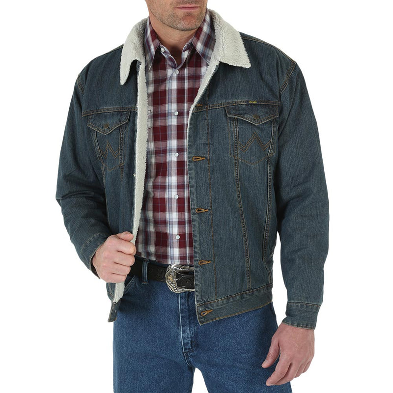 Wrangler Sherpa Lined Jacket - 74256RT