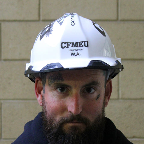 CFMEU WHITE HARD HAT