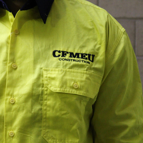 CFMEU HI-VIS WORK SHIRT
