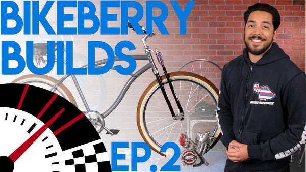 Custom Motorized Bicycle Build - BikeBerry Builds EP 2 - Giveaway