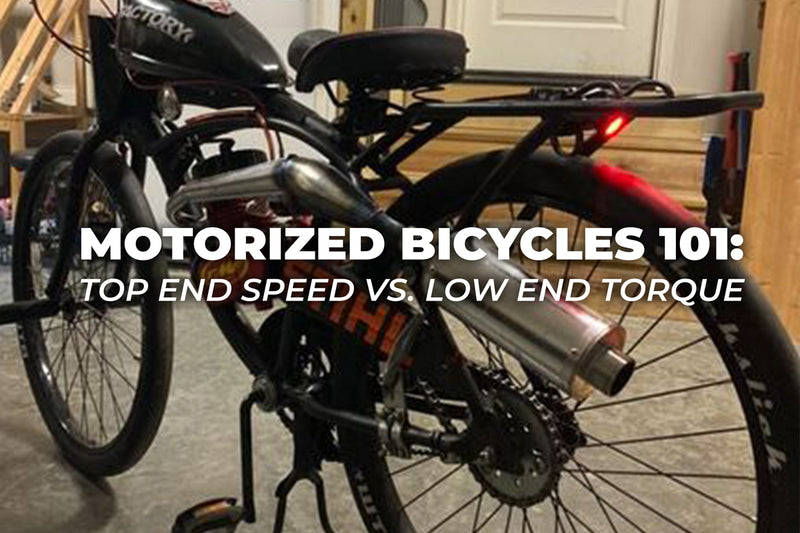 Motorized Bicycles 101: Top End Speed vs. Low End Torque