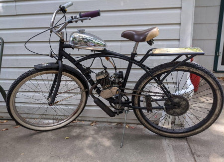2-Stroke Motorized Bike with Standard Carb Installed