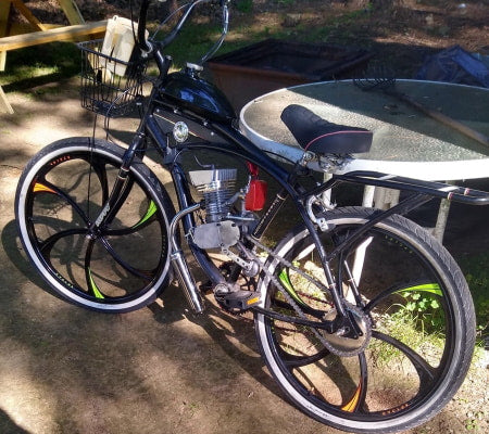 Motorized Bicycle with 2-Stroke Speed Carburetor