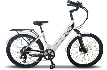Emojo Panther 500w electric bike with step-through frame.