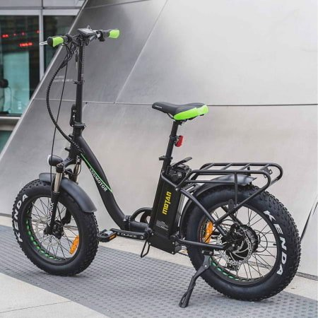 This is a picture of the Addmotor MOTAN M-140 P7 750W Step-Thru Electric Folding Bike.