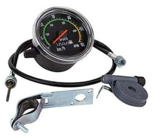 This is an analog speedometer.