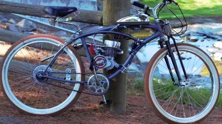 BBR Tuning 2-stroke motorized bicycle.