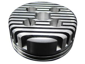 This is a BBR Tuning Billet Aluminium High Performance Cylinder Head 66/80cc.