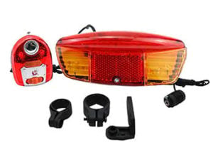 This is a BBR Tuning Bicycle 3-in-1 Brake Light and Turn Signal.