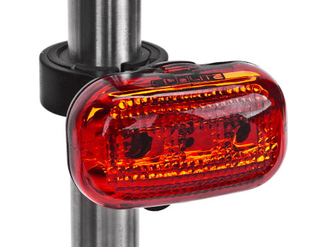 This is a product image a BBR Tuning Vintage LED Bullet Headlight - Black/Copper for motorized bikes.