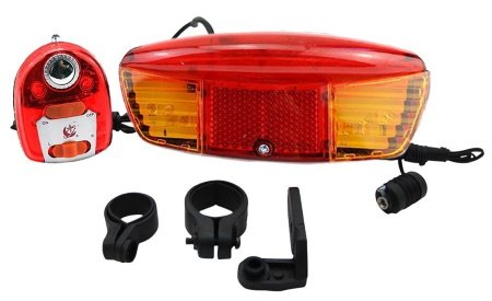 BBR Tuning Bicycle 3-in-1 Brake Light and Turn Signal for motorized bike.