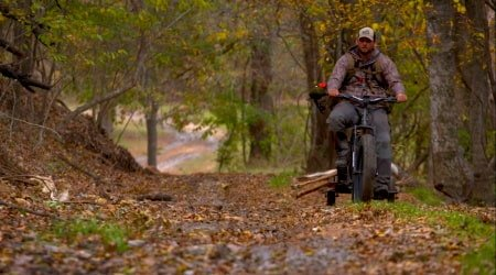 Hunting with an electric bike.