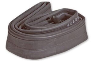 Standard 26 Inch Inner Tube with Schrader valve and cap for motorized bikes and standard bicycles.