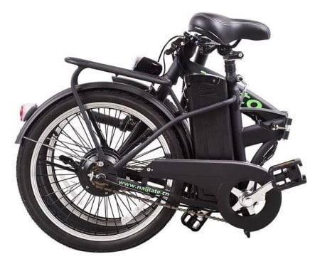 This is a picture of the Nakto 250W Fashion Folding Electric Bike folded.