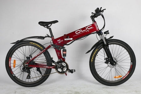 Olic LMB 250w and 350w Leopard Folding Mountain Electric Bike for off-road and mountain riding.