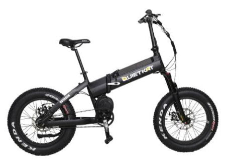 This is a picture of the QuietKat Voyager 750 Folding E-Bike.