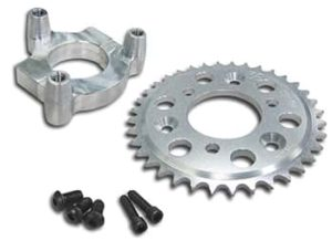 This is a BBR Tuning Sprocket Adapter Assembly.