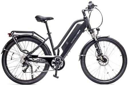 Surface 604 500W Rook Electric Cruiser in black.