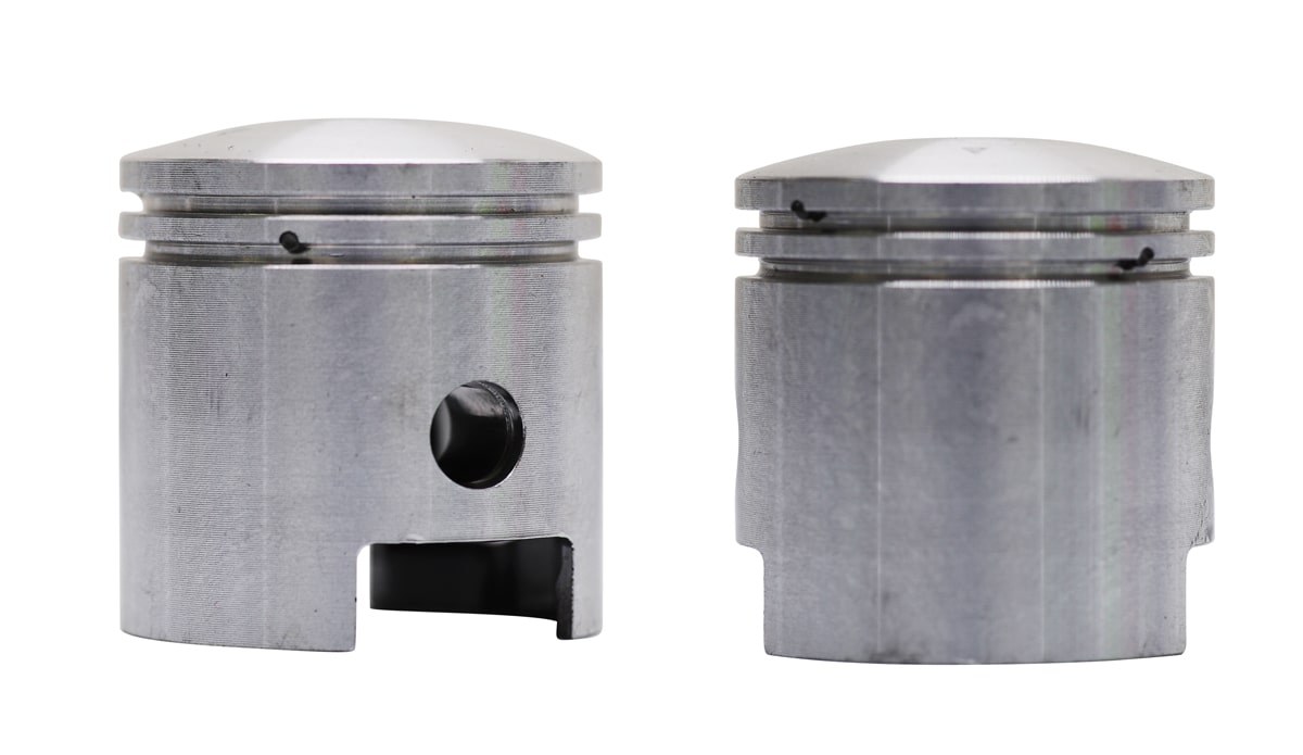 Type A piston for a 2-stroke engine.