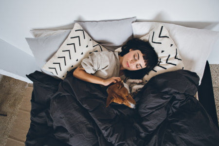 Sleeping after exercise for increased rest.