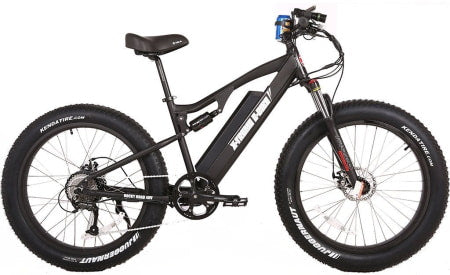 X-Treme Rocky Road 500w mountain e-bike with fat tires.