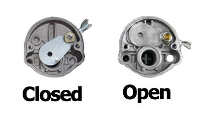 Displaying fuel valve in both open and closed positions