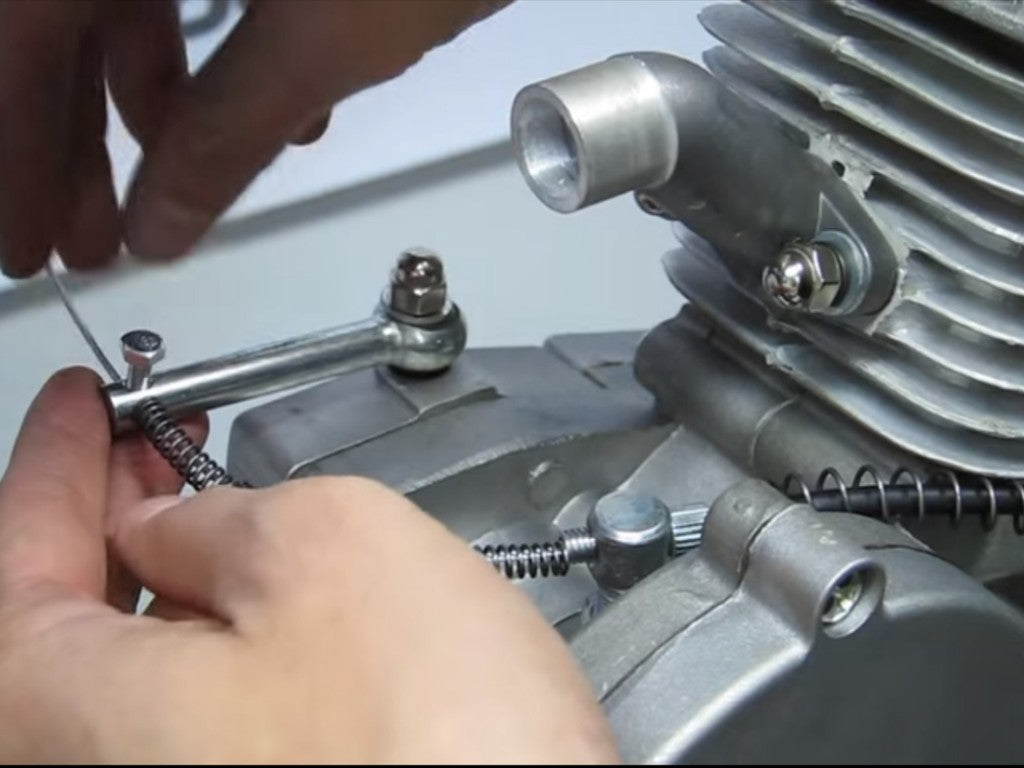 Installing clutch cable on bike