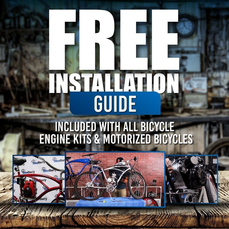 66/80cc Mega Motors Silver Bicycle Engine Kit- 2 Stroke - installation guide